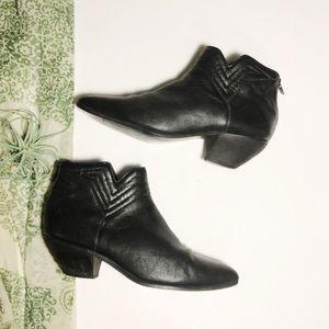 Vintage Buskens Ankle Boots Heel Black Leather 8